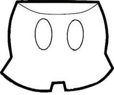 Resultado de imagem para desenho para colorir do rosto do mickey