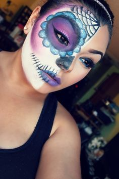 ...  cool how they did the full skeleton instead of just the Sugar Skull makeup. Description from pinterest.com. I searched for this on bing.com/images