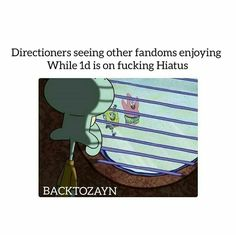 But we get to enjoy their solo music and there is four of them so that means more music for us so who is the real winners? Directioners that's who. We will always win against any fandom.
