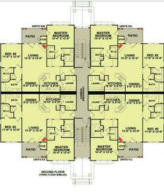 Plan 83117DC: 3 Story 12 Unit Apartment Building | Apartments ...