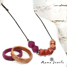 FIRED EARTH TEETHING NECKLACE GIFT SET