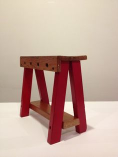 Vintage Children's Toy Work Bench