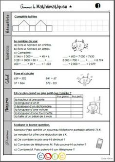 Les gammes de mathématiques - Période 1