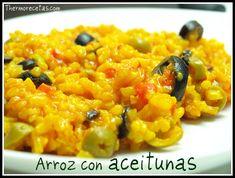 Receta de arroz con aceitunas. Algo novedoso ;-) #arroz #recetas #thermomix