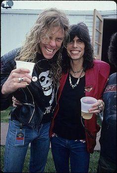 James Hetfield and Steven Tyler