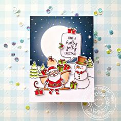 Sunny Studio Stamps: Santa Claus Lane Feeling Frosty Hogs & Kisses Scenic Route Holiday Cards by Ana Anderson and Franci Vignoli Christmas Card Crafts, Holiday Cards, Xmas Cards, Christmas Ideas, Sunnies Studios, Winter Project, Christmas Scenes, Foam Crafts, Scrapbook Cards