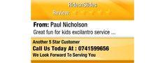 Great fun for kids excilantro service