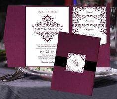 Bolsillo doble boda invitación plantillas por BabiesLove2Party