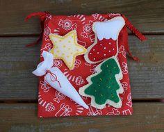 Felt Christmas cookies with piping bag and storage bag/felt