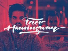 Taco Hemingway designed by Arkadiusz Radek. Celebrity Singers, Typography Inspiration, Typography Design, What Inspires You, My Favorite Music, Daily Inspiration, Music Artists, Hand Lettering, Tacos