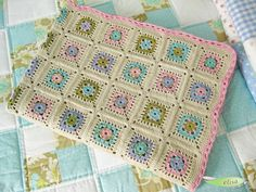 Beautiful pastel granny square afghan