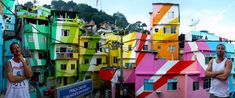 Favela painting in Brazil by Jeroen Koolhaas and Dre Urhahn: Dutch artists bring new life and hope to Brazil's poorest neighbourhoods!