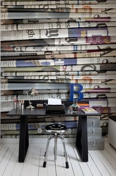 Mr Perswall - Communication - Daily News - Read All About It - Wallpaper - Mural - Bespoke Sizes Available Wallpaper Decor, Modern Wallpaper, New Wallpaper, Print Wallpaper, Jornal Wallpaper, Newspaper Wallpaper, Scandinavian Wallpaper, Wall Treatments, Wall Murals