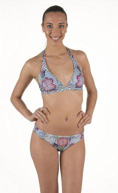 Bikini in Lycra Triangolo Vela non imbottito. Base fissa. Slip fianchetto | Eleonora Lingerie