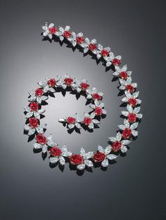 Black, Starr and Frost Ruby and diamond necklace