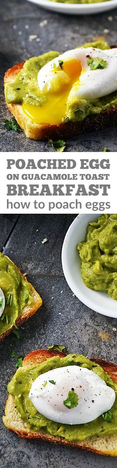 Poached Egg on Toast   by Life Tastes Good is a healthy breakfast full of protein to keep you going all morning long! Oh, and it just so happens to be easy to make and delicious too! Learn how to make perfectly poached eggs. You'll be surprised at how easy it is! #LTGrecipes