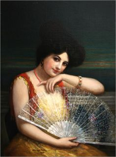 William Haskell Coffin (1878 - 1941) - Lady with a fan, 1906