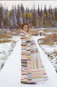 Strip quilt portrait by Jordan Ison via Make it Do