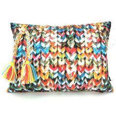 faux crochet pillow at lama