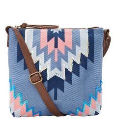 $7.99 marked down from $38! Blue Sequin Geometric Crossbody Bag #blue #crossbody #zulily! #zulilyfinds