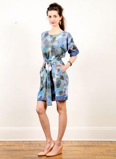 Ermie Dolman Sleeve Dress - Negative After Party Print