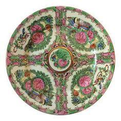 CHAIRISH CHAROTTE Vintage Rose Medallion Decorative Plate