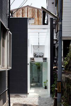 Image 35 of 38 from gallery of Shoji Screen House / Yoshiaki Yamashita. Photograph by Eiji Tomita Semi Detached, Detached House, Shoji Screen, Screen House, Interior Architecture, Interior Design, Facade, Minimalism, Floor Plans