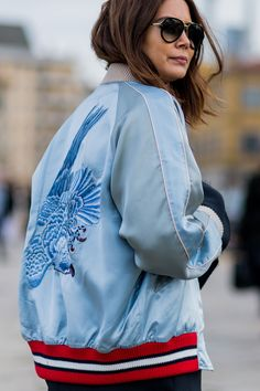 Bomber Jackets are The thing this spring - Cute one for Spring color ladies (she is Earthy Ri8ch and Spring - Lively Bright.)