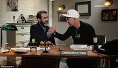 McEnroe is quick to hand Cantona the job which means Cantona will work with Eurosport during Euro 2016