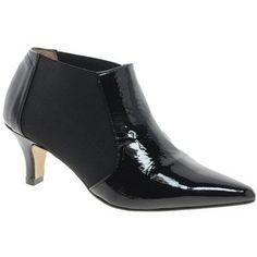 kitten heal shoes   Ganni Patent Leather Kitten Heel Shoe Boot - Polyvore