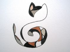 Calico Cat treble clef!