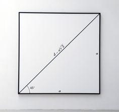 BERNAR VENET STUDIO - diagonal of square