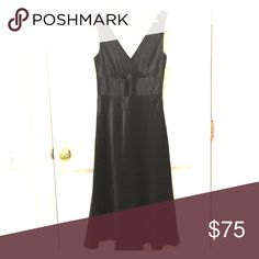 J.Crew. 100% Silk Dress Little Black Dress by J. Crew, 100% silk, side zip, double v neck in front and back, slight flare at hem. Fully lined, flattering waist detail. EUC, no flaws or signs of wear! J. Crew Dresses