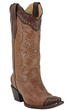 Corral® Ladies Tan & Chocolate Brown Mad Dog Goat Western Boot. i would LOVE to add these to my shoe collection.