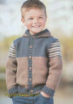 Ravelry: Sofiecat's Hooded Baby Jacket – maallure Baby Knitting Patterns, Crochet Vest Pattern, Knitting For Kids, Knitting Designs, Knit Baby Sweaters, Boys Sweaters, Diy Crafts Knitting, Baby Boy Cardigan, Crochet Baby