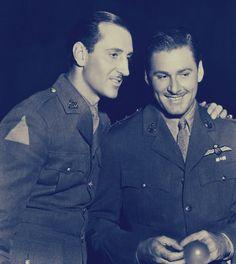 Erroll Flynn with Basil Rathbone #ErrolFlynn
