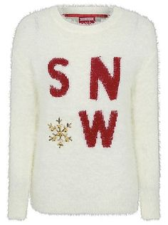 Cute Christmas Jumpers - Eyelash Embellished Slogan Christmas Jumper | Women | George at ASDA