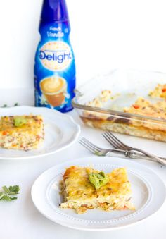 The ultimate breakfast casserole using ID (you heard right!) courtesy of @megdenea from A Zesty Bite!