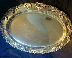 Large silverplate serving tray by Godinger 17 inches