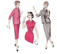 1950s Sheath Dress and Jacket  Butterick 7245 by ErikawithaK