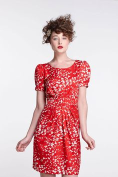 Ruched Dragonfly Dress / Karen Walker