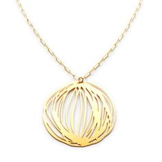 Twine Necklace Large Gold - Kyler Eco Modern Jewelry