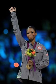 gabby douglas receiving her gold medal