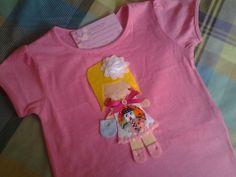 Camiseta muñeca. talla 36 meses.