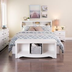 Winslow White Full/Queen Bookcase Headboard - Overstock™ Shopping - Big Discounts on Headboards