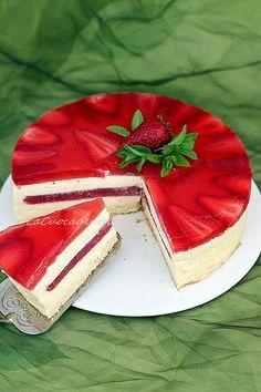Torta Tiramisù alle fragole _ La Cuoca Dentro