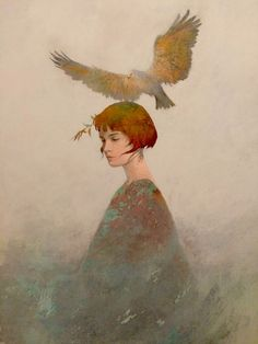 Inspiring Illustration by Federico Infante. Born in Santiago, Chile in Federico Infante works predominantly in the medium of painting, Figure Painting, Painting & Drawing, Kunst Online, Guache, Art Plastique, Portrait Art, Beautiful Paintings, Deep Paintings, Aesthetic Art