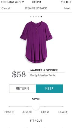 Market and Spruce Barty Henley Tunic