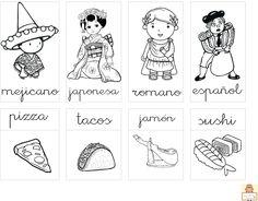 "Proyecto ""La vuelta al mundo"". Fichas para imprimir. Countries Of The World, Continents, Mickey Mouse, Culture, Comics, Montessori, Doraemon, Flags, Homeschooling"