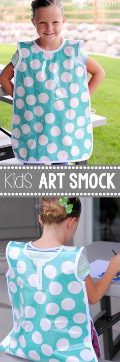 Kid's Art Smock Pattern and Tutorial